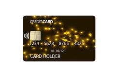 Plastikowa kredytowa karta Zdjęcia Royalty Free