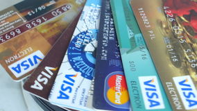 Plastikowa Kredytowych kart wiza, Mastercard, mistrz zdjęcie wideo