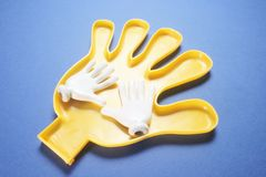 Plastikowa ręka obrazy royalty free