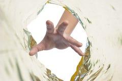 plastikowa ręki przekąska Fotografia Stock