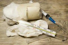 Plastikowa rozporządzalna strzykawka Obraz Stock