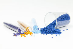 Plastikowe granule zdjęcia royalty free