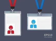 Plastikowe ID odznaki. royalty ilustracja