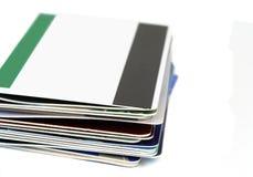 plastikowe karty Zdjęcie Royalty Free