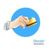 plastikowe karty, w szczególności niebieski odcień Zdjęcie Royalty Free