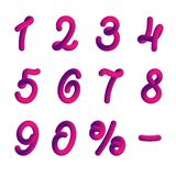 Plastikowe liczby w 3d stylu Obraz Royalty Free