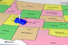 Plastikowe samochodowe podróże od Utah Kolorado Obraz Royalty Free