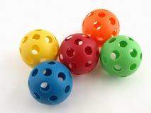 plastikowe zabawki kolorowa ball Obrazy Royalty Free