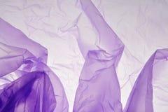 Plastikowego worka t?o Fio?kowa tekstura Purpurowy t?o punkt zdjęcia stock