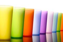 plastikowi barwioni szkła Zdjęcia Stock