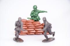 Plastikowi mini zabawkarscy żołnierze Zdjęcie Stock
