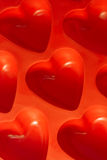 Plastikowi serca Obrazy Stock