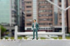 plastikowi sfałszowani miniaturowi ludzie Fotografia Royalty Free