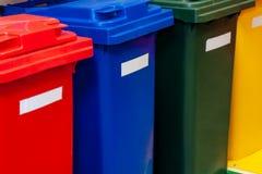 Plastikowi zbiorniki dla oddzielnej jałowej kolekcji zdjęcie royalty free