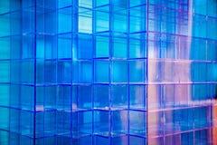 Plastikowy błękitny kubiczny zdjęcia royalty free