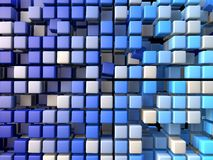 Plastikowy blucubes tło Fotografia Stock