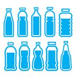Plastikowy butelka set Fotografia Royalty Free