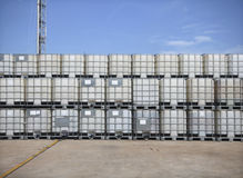 Plastikowy chemiczny zbiornik Obraz Stock