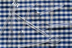 Plastikowy cutlery Zdjęcie Stock