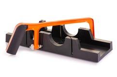 Plastikowy czarny miterbox obrazy stock