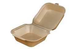 Plastikowy fasta food pudełko Zdjęcia Stock
