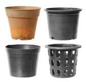 Plastikowy flowerpot Fotografia Stock