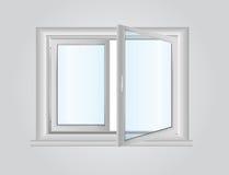 Plastikowy okno Zdjęcie Stock