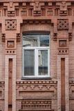 Plastikowy okno w rocznika budynku zdjęcia stock