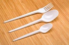 Plastikowy rozporządzalny cutlery Fotografia Stock