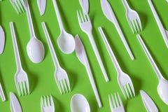 Plastikowy rozporządzalny cutlery zdjęcie royalty free