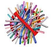 Plastikowy słoma zakaz ilustracji