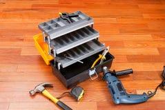 Plastikowy toolbox Zdjęcie Royalty Free