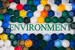 plastikowy zanieczyszczenia pojęcie Jest plastikowy bezpłatny E zdjęcia royalty free