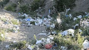 Plastikowy zanieczyszczenie w naturze zdjęcie wideo