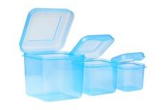 Plastikowy zbiornik dla jedzenia Fotografia Stock