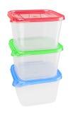Plastikowy zbiornik dla jedzenia Obrazy Stock