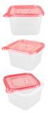 Plastikowy zbiornik dla jedzenia Obrazy Royalty Free