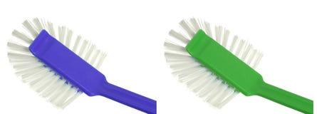 Plastikpinsel für Abwasch Stockbilder