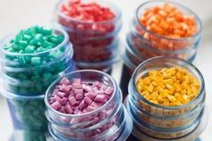 Plastikpolymer Stockfoto