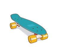 Plastikskateboard Mini- oder kurzer Kreuzer Lizenzfreie Stockfotos