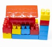 PlastikspielwarenBausteine stockfoto