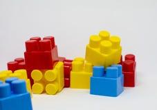 PlastikspielwarenBausteine stockbild