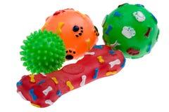 Plastikspielzeug für Hundemakro Lizenzfreies Stockfoto