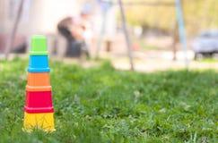 Plastikspielzeugblöcke Stockbild