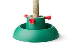 Plastikstandplatz für Weihnachtsbaum Stockfoto