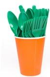 Plastiktafelsilber stockbild