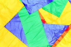 Plastiktaschehintergrund Stockfotos