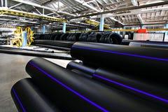 Plastikwasserleitungsfabrik, Industrie Lizenzfreie Stockfotos