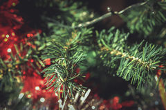 Plastikweihnachtsbaum Stockfotografie