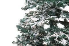 Plastikweihnachtsbaum lokalisiert Stockfoto